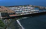 Yachts and boats and  Los Gigantes harbour  ,tenerife, Canary Islands,Spain