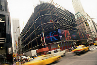 Construction of 4 Times Square in New York is seen on September 1997. The building contains Nasdaq and the offices of Conde Nast Publishing. (© Richard B. Levine)