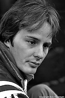 BOWMANVILLE, ONT - OCTOBER 9: Gilles Villeneuve waits to drive the Ferrari 312T2 030/Ferrari 015 during practice for the Canadian Grand Prix on October 9. 1977, at Mosport Park near Bowmanville, Ontario
