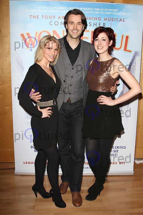 Milton Keynes - Lucy Van Gasse; Michael Xavier; Connie Fisher attend the 'Wonderful Town' Press Launch at Milton Keynes Theatre, Bucks - March 8th 2012....Photo by Jill Mayhew