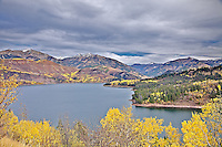 Palisades Reservoir and Fall Colors in Swan Valley Idaho