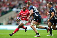LCpl Semesa Rokoduguni of the British Army in possession. Babcock Inter-Services Championship match between the British Army and the Royal Navy on April 30, 2016 at Twickenham Stadium in London, England. Photo by: Patrick Khachfe / Onside Images