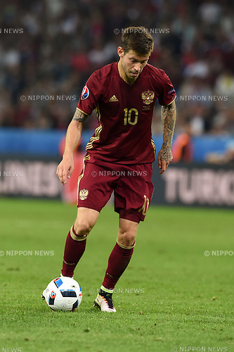 Fedor Smolov (Russia) ; <br /> June 15, 2016 - Football : Uefa Euro France 2016, Group B, Russia 1-2 Slovakia at Stade Pierre Mauroy, Lille Metropole, France.; ;(Photo by aicfoto/AFLO)