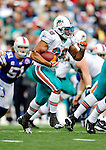 29 November 2009: Miami Dolphins' running back Lex Hilliard rushes for yardage in the third quarter against the Buffalo Bills at Ralph Wilson Stadium in Orchard Park, New York. The Bills defeated the Dolphins 31-14. Mandatory Credit: Ed Wolfstein Photo