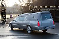 Queen Fabiola - The hearse arrives at the Royal castle chapel in Laeken - Belgium
