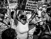 Thousands of demonstrators gather for a May Day rally  in Washington, DC, USA 01 May 2017. Labor Day or May Day is observed all over the world on the first day of the May to celebrate the economic and social achievements of workers and fight for laborers rights.