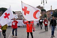 Roma 21 Febbraio 2015<br /> Manifestazione nazionale dei lavoratori della Croce Rossa Italiana per la tutela dei posti di lavoro e contro la privatizzazione della Croce Rossa.<br /> Rome February 21, 2015<br /> National demonstration of workers of the Italian Red Cross for the protection of jobs and against the privatization of the Red Cross.