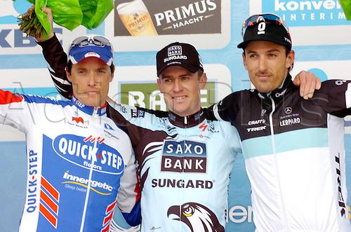 04.04.2011. Tour des Flanders Belgium.  Saxo Bank - Sungard 2011, Quick Step 2011, Leopard - Trek 2011, Nuyens Nick, Chavanel Sylvain, Cancellara Fabian, Ninove