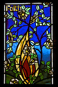 Faith, Stain Glass Window, New Zealand<br />