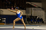The number 25 ranked UK Wildcats gymnastics team competed in an intra-squad blue vs white scrimmage Thursday evening at Memorial Coliseum. Events included the balance beam, the uneven bars, vault, and floor routine (pictured here).  in Lexington, Ky., on Thursday, December, 6, 2012. Photo by James Holt | Staff