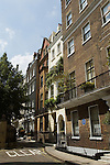 Private homes in Charles Street, Mayfair central London. City of Westminster. England 2006.