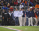 Ole Miss Head Coach Houston Nutt vs. Louisiana-Lafayette in Oxford, Miss. on Saturday, November 6, 2010. Ole Miss won 43-21.