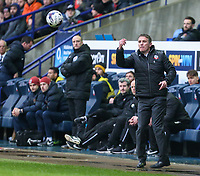 Bolton Wanderers manager Phil Parkinson throws the ball to his player as his side look for an equaliser<br /> <br /> Photographer Alex Dodd/CameraSport<br /> <br /> The EFL Sky Bet League One - Bolton Wanderers v Northampton Town - Saturday 18th March 2017 - Macron Stadium - Bolton<br /> <br /> World Copyright &copy; 2017 CameraSport. All rights reserved. 43 Linden Ave. Countesthorpe. Leicester. England. LE8 5PG - Tel: +44 (0) 116 277 4147 - admin@camerasport.com - www.camerasport.com