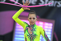 Daria Dmitrieva of Russia performs on way to winning bronze in All Around at 2010 Grand Prix Marbella at San Pedro Alcantara, Spain on May 15, 2010. (Photo by Tom Theobald).