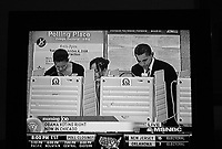 Chicago, Illinois, November 4th 2008.Barack and Michelle Obama cast their vote. Election Day, more than 140 million Americans went out to vote in this historic occasion.