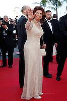 Sophia Loren attends 'Deux jours, une nuit' 1ere - 67th Cannes Film Festival - France