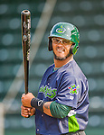 8 July 2015: Vermont Lake Monsters outfielder Vicmal De La Cruz awaits his turn in the batting cage prior to a game against the Mahoning Valley Scrappers at Centennial Field in Burlington, Vermont. The Lake Monsters defeated the Scrappers 9-4 to open the home game series of NY Penn League action. Mandatory Credit: Ed Wolfstein Photo *** RAW Image File Available ****