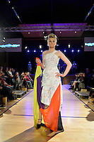 New Zealand Eco Fashion Exposed, Eco Designer Runway at Notre Dame Performing Arts Centre, Lower Hutt, New Zealand on Saturday 26 July 2014. <br /> Photo by Masanori Udagawa. <br /> www.photowellington.photoshelter.com.