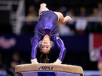 Jordyn Wieber of Geddert's competes on the vault during 2012 US Olympic Trials Gymnastics Finals at HP Pavilion in San Jose, California on July 1st, 2012.