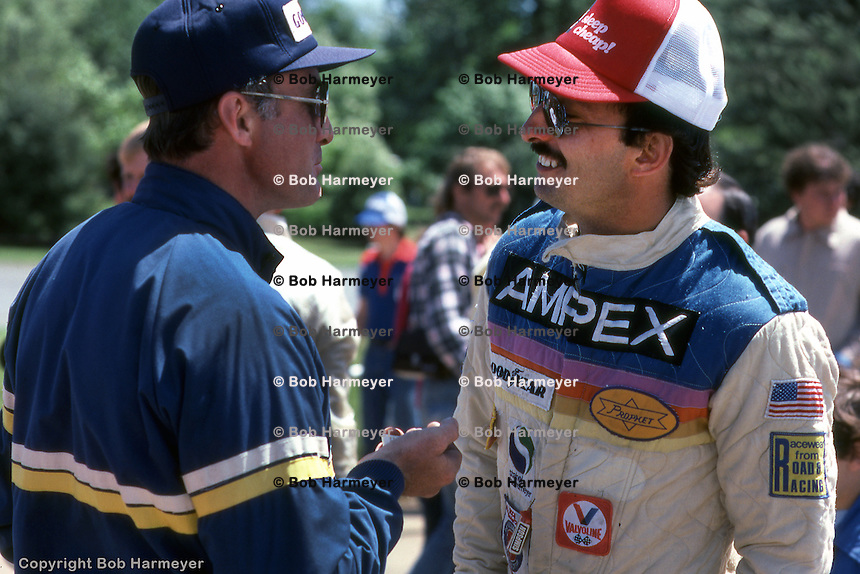 Bobby Rahal (right), driver of the Prophet 2/Chevrolet, at the Can-Am race on June 8, 1980 at the Mid-Ohio Sports Car Course near Lexington, Ohio.