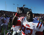 Ole Miss defensive tackle Uriah Grant (93) vs. Arkansas at War Memorial Stadium in Little Rock, Ark. on Saturday, October 27, 2012. Ole Miss won 30-27...