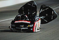 Oct. 28 2011; Las Vegas, NV, USA: NHRA pro mod driver Rickie Smith during qualifying for the Big O Tires Nationals at The Strip at Las Vegas Motor Speedway. Mandatory Credit: Mark J. Rebilas-US PRESSWIRE