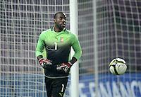 FUSSBALL   INTERNATIONAL   Testspiel    Albanien - Kamerun       14.11.2012 Torwart Roland NDY Assembe (Kamerun) mit Ball