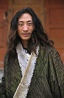 Khampa nomad in Labrang, Amdo Tibet.<br />