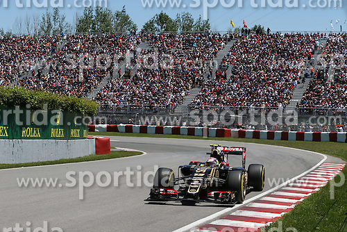 06.06.2015, Circuit Gilles Villeneuve, Montreal, CAN, FIA, Formel 1, Grand Prix von Kanada, Qualifying, im Bild Pastor Maldonado (VEN) Lotus E23 Hybrid // during Qualifyings of the Canadian Formula One Grand Prix at the Circuit Gilles Villeneuve in Montreal, Canada on 2015/06/06. EXPA Pictures &copy; 2015, PhotoCredit: EXPA/ Sutton Images/ Mirko Stange<br /> <br /> *****ATTENTION - for AUT, SLO, CRO, SRB, BIH, MAZ only*****