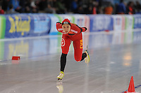 SPEED SKATING: STAVANGER: Sørmarka Arena, 31-01-2016, ISU World Cup, 3000m Ladies Division A, Xin Zhao (CHN), ©photo Martin de Jong