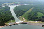 Mtn Island Lake Dam, built in 1924 as a hydro station,on the Catawba River above Charlotte. The resulting 3,281 acre lake is the water supply for Charlotte and surrounding communities. It also cools the water from Duke Energy's Riverbend Steam Station.
