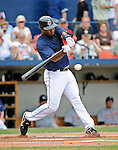 11 March 2008: Cleveland Indians' second baseman Josh Barfield at bat during a Spring Training game against the Detroit Tigers at Chain of Lakes Park, in Winter Haven Florida. The Tigers rallied to defeat the Indians 4-2 in the Grapefruit League matchup...Mandatory Photo Credit: Ed Wolfstein Photo