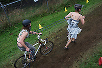 Halloween Cyclo Cross. Astoria, Oregon.