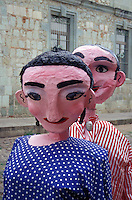 Life-sized papier mache figures in the city of Oaxaca, Mexico