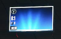 FUSSBALL   CHAMPIONS LEAGUE   SAISON 2012/2013   GRUPPENPHASE   FC Bayern Muenchen - LOSC Lille                          07.11.2012 Die Anzeigentafel in der Allianz Arena mit dem Ergebnis 6:1
