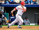 9 March 2010: Washington Nationals' infielder Josh Whitesell in action during a Spring Training game against the Detroit Tigers at Space Coast Stadium in Viera, Florida. The Tigers defeated the Nationals 9-4 in Grapefruit League action. Mandatory Credit: Ed Wolfstein Photo