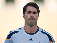 LOS ANGELES, CA – July 16, 2011: Juan Pablo Angel (9) of the LA Galaxy during the match between LA Galaxy and Real Madrid at the Los Angeles Memorial Coliseum in Los Angeles, California. Final score Real Madrid 4, LA Galaxy 1.