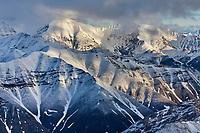 Aerial of the Brooks range mountains, Arctic National Wildlife Refuge, Alaska.