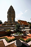 A Buddhist stupa is the centerpiece of a garden inside the Royal Palace complex in Phnom Penh, Cambodia. Feb. 29, 2012.