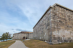 Fort Independence in South Boston, Boston, Massachusetts, USA