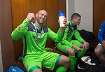 St Johnstone v Dundee United....17.05.14   William Hill Scottish Cup Final<br /> Alan Mannus celebrates in the dressing room with his protein shake!!<br /> Picture by Graeme Hart.<br /> Copyright Perthshire Picture Agency<br /> Tel: 01738 623350  Mobile: 07990 594431
