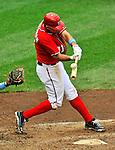 19 June 2011: Washington Nationals' third baseman Ryan Zimmerman in action against the Baltimore Orioles at Nationals Park in Washington, District of Columbia. The Orioles defeated the Nationals 7-4 in inter-league play, ending Washington's 8-game winning streak. Mandatory Credit: Ed Wolfstein Photo
