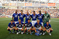 Everton FC starting eleven. The Philadelphia Union defeated Everton FC 1-0 during an international friendly at PPL Park in Chester, PA, on July 20, 2011.
