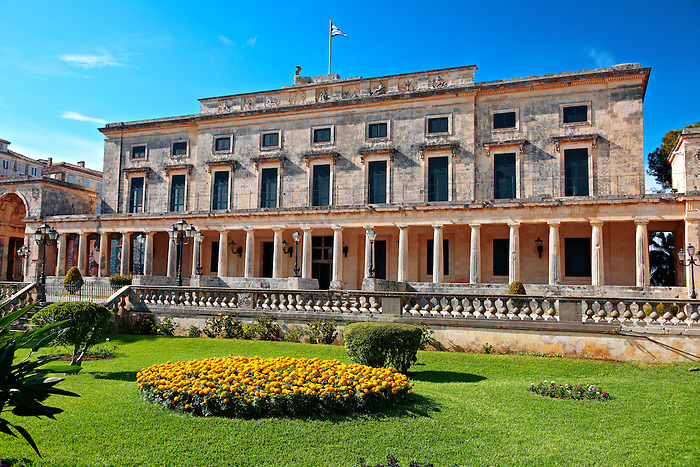 Palaia Anaktora [ ?????? ???????? ] , the Museum of Asian Art Corfu city, Greek Ionian islands