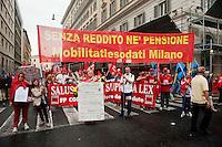 Roma 28 Settembre 2012.Sciopero generale dei servizi pubblici contro la spending review e i tagli del Governo Monti,indetto dai sindacati CGIL e UIL