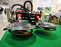 Nobember 9, 2011, Tokyo, Japan - A weed-removing robot capable of working on a slope incline of 45 degree is on display at the International Robot Exhibition 2011 opened in Tokyo on Wednesday, November 9, 2011. The three-day trade show, sponsored by the Japan Robot Association, was designed promote new products and develop new business through contributing the promotion of new technology. (Photo by Natsuki Sakai/AFLO) [3615] -mis-..