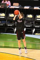 8 April 2008: Stanford Cardinal Hannah Donaghe during Stanford's 64-48 loss against the Tennessee Lady Volunteers in the 2008 NCAA Division I Women's Basketball Final Four championship game at the St. Pete Times Forum Arena in Tampa Bay, FL.
