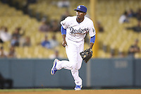 05/31/12 Los Angeles, CA: Los Angeles Dodgers shortstop Dee Gordon #9 during an MLB game between the Milwaukee Brewers and the Los Angeles Dodgers played at Dodger Stadium. The Brewers defeated the Dodgers 6-2.