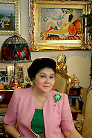 Philippines - Imelda Marcos exclusive images  in her Homes Manila, May2007
