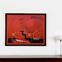 """Berberian: Eurus, Digital Print, Image Dims. 33"""" x 42.5"""", Framed Dims. 36.75"""" x 46"""" ****This canvas is rolled and can be stretched or framed."""